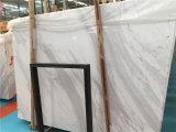 Telha branca de mármore da laje da espessura de Volakas 18mm