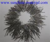 Fibre d'acier inoxydable d'extrait de fonte pour le matériel réfractaire