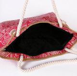O saco nacional novo da praia do saco de ombro do curso da grande capacidade do saco da lona da impressão da forma das bolsas da tela de pano do vento