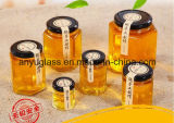 Vasi di vetro di Hexahedron per l'ostruzione dell'alimento del miele con il formato differente