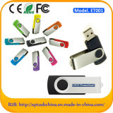 Movimentação personalizada do flash do USB do giro do metal da vara do USB do logotipo (ET001)