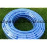 Boyau transparent en plastique de l'eau de PVC de qualité