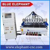 Fresadora del CNC de China del eje de rotación 3D del ranurador de madera multi del CNC