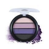 Sombra de ojo desnuda de la gama de colores mate del sombreador de ojos de 4 colores con el conjunto Es0330 del espejo y de cepillo