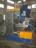 El fregado de las botellas del HDPE y recicla la línea