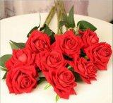 Grande fiore artificiale della Rosa delle 3 teste del fiore artificiale