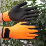 Перчатка работы безопасности перчаток перчаток Sandy покрынная нитрилом Hi-Viz Nylon