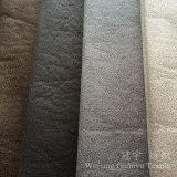 Tissu en cuir de composé de suède de polyester avec le traitement d'estampage d'or