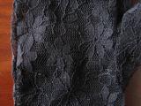 De zwarte Handschoenen van Fingerless&Sexy van het Sleutelgat van het Kant (GL004)