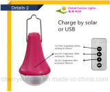 Mini jogo claro psto solar do diodo emissor de luz do sistema de energia solar