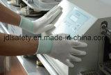 Волокно углерода и Nylon связанная противостатическая перчатка работы ESD, перст покрыли с белым PU (PC8111)