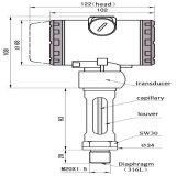 Transmissor de pressão de alta temperatura da Não-Cavidade