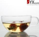 Glascup des tee-250ml mit Glassaucer-/Glastee-Becherglaskaffeetasse mit Saucer/Glaskaffeetasse