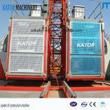 Grua 2017 elevada quente da construção da gaiola 50m do dobro da carga das vendas Sc200/200 2t de China
