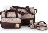 5 em 1 saco de Tote Multifunction 2024b da mamã do saco da fralda do tecido do bebê da mamã