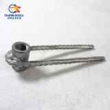 螺旋形のナットが付いている造られたステンレス鋼の規則的なナットのアイボルト