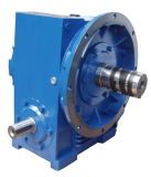 Un Double más plano Enveloping Worm Gearbox con Torque Arm