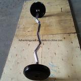 고무 격판덮개 및 크롬 도금을 한 바를 가진 SDH 바벨 세트