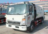 Sinotruk 5 toneladas de basura del carro HOWO 5 Cbm de los desperdicios de carro del transporte
