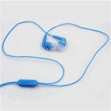 Связанный проволокой наушник мобильного телефона 3.5 mm Univeral с зажимом Earplug шлемофона наушников микрофона Mic стерео (XSEJ-011)