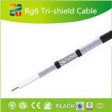 Tri cable coaxial caliente del blindaje Cable/RG6 de la venta RG6