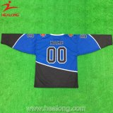Healong a coupé et les uniformes courts de couture du Jersey de hockey sur glace de chemise
