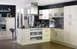 純木の台所家具の現代食器棚#158、