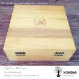 Doos van de Opslag van de Essentiële Olie van Hongdao de Houten Verpakkende met Doos _E van de Gift van het Embleem van de Douane de Houten