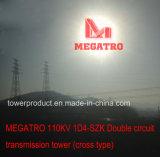 Башня передачи цепи Megatro 110kv 1d4-Szk двойная (перекрестный тип)