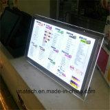 sul contenitore chiaro di pubblicità acrilico di cristallo di scrittorio LED