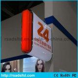 La publicité du cadre léger de aspiration externe acrylique de signe du moulage DEL