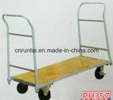Caminhão de mão de madeira da plataforma das rodas da plataforma quatro