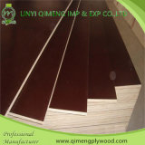 Álamo o Hardwood Core Thickness 9mm-18m m Brown o Black Color Phenolic Glue Film Faced Plywood para Construction
