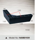Пластичная нога мебели, нога шкафа, нога софы (14080109)