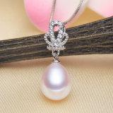 Colgante de agua dulce natural de la perla de la lágrima de la cultura del AAA 9-10m m del colgante de la perla
