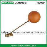 Valvola a sfera d'ottone nichelata del galleggiante (AV5020)