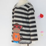 T-shirt 100% de Long Sleeve Print do algodão para Kids e Babies