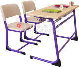 Hot Sale School Furniture Double School Set de mesas e cadeiras
