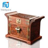 2014 venta caliente de la joyería de madera Cajas con hardware