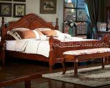 固体木のベッドの現代ダブル・ベッド(M-X2262)