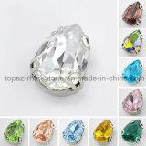 Het bergkristal naait op Juwelen naait bij het Plaatsen van Bergkristal (sW-Daling 13*18mm)