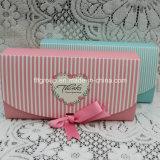 Rectángulo delicado de la flor del rectángulo de papel de embalaje del chocolate de la cartulina de la venta caliente