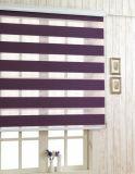 Cortinas e telas duplas da zebra do escurecimento da forma das cortinas de rolo da zebra de linho da tela do poliéster