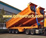 60 판매를 위한 톤 3axles 팁 주는 사람 트레일러 트랙터 덤프 트레일러