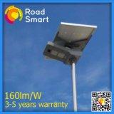 réverbère solaire extérieur intelligent de Wiress DEL de batterie au lithium 15-50W