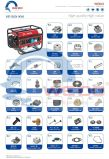 recambios del generador de la gasolina del carburador 1000W/del enchufe del pistón/de chispa/del rodamiento/del cilindro