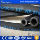 Boyau en caoutchouc hydraulique industriel renforcé à haute pression flexible de pétrole de fil d'acier (En857 2sc)