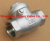 Tipo única válvula do sanduíche da alta qualidade de verificação do balanço do disco (H74)