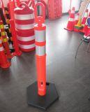 75cm 사려깊은 소통량 포스트를 경고하는 높은 시정 PE 차도 안전