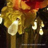 Luz solar de la cadena de 10 LED para la decoración del jardín (RS1008)